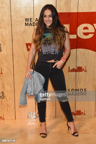 Actress Zuria Vega is seen arriving at the red carpet for opening of the store Levi's in the Historic Center of the City of mexico on March 22 2018...