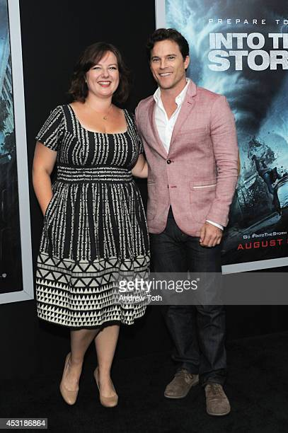 Actress Zuzanna Szadkowski and actor Mike Doyle attend the 'Into The Storm' premiere at AMC Lincoln Square Theater on August 4 2014 in New York City