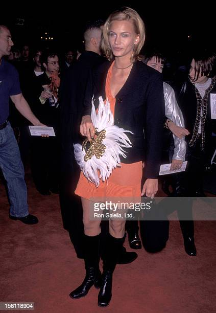 Actressa Natasha Henstridge attends the 'Romeo and Juliet' Hollywood Premiere on October 27 1996 at Mann's Chinese Theatre in Hollywood California