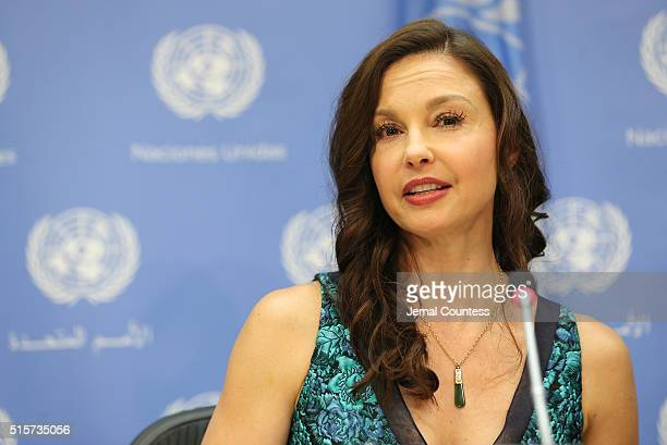 Actress/activist Ashley Judd speaks at a press conference held to announce her appointment as The UN Population Fund's Goodwill Ambassador at United...