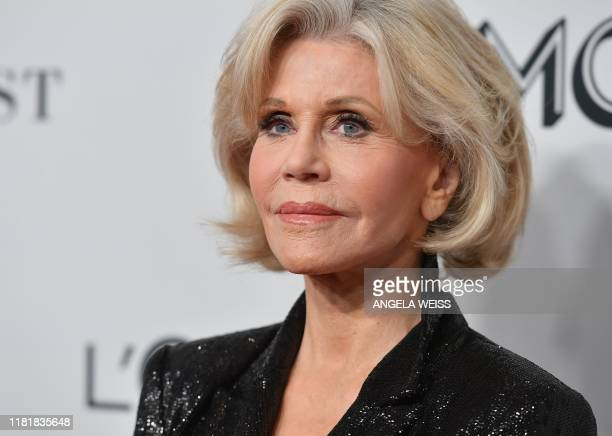 US actress/activist Jane Fonda attends the 2019 Glamour Women Of The Year Awards at Alice Tully Hall Lincoln Center on November 11 2019 in New York...