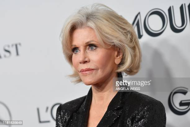 TOPSHOT US actress/activist Jane Fonda attends the 2019 Glamour Women Of The Year Awards at Alice Tully Hall Lincoln Center on November 11 2019 in...