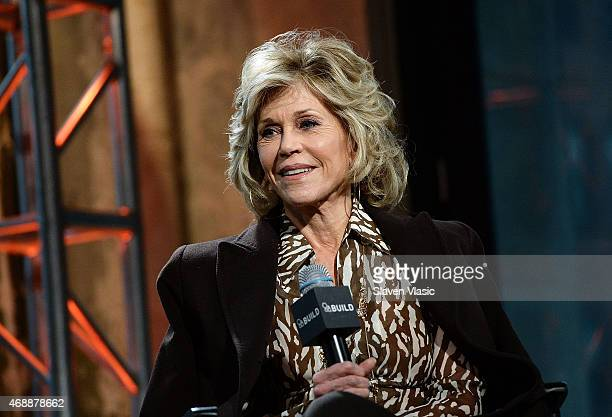 Actress/activist Jane Fonda attends the AOL BUILD Speaker Series at AOL Studios In New York on April 7 2015 in New York City