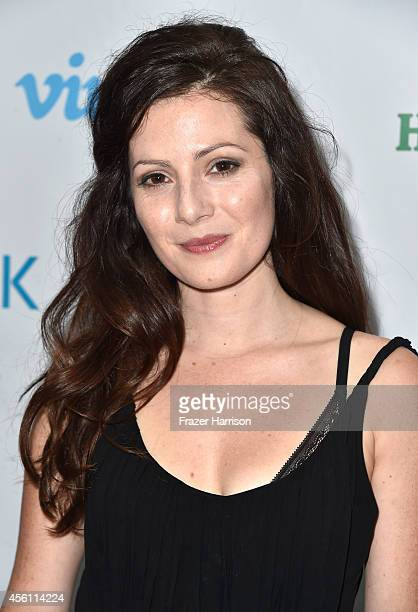 ActressAleksa Palladino attends the screening party for Vimeo On Demand's New WebSeries 'Wedlock' at The Ace Hotel on September 25 2014 in Downtown...