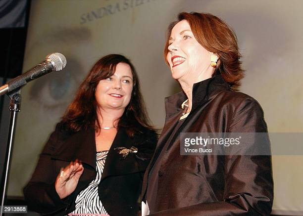 Actress/artist Sandra Stephenson and daughter fashion designer Jennifer Nicholson attend Previous Images a multimedia exhibition of Sandra Knight by...