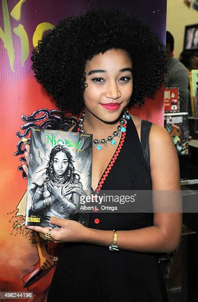 Actress/author Amandla Stenberg at Amandla Stenberg's Launch Party For 'Niobe She Is Life' held at Hi De Ho Comics And Books on November 7 2015 in...