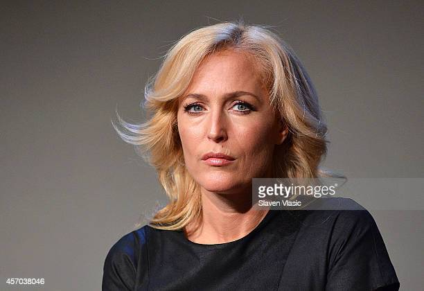 Actress/author Gillian Anderson attends 'Meet The Authors' at Apple Store Soho on October 10, 2014 in New York City.