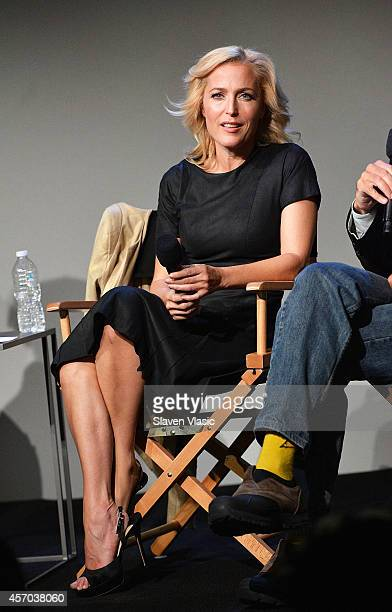 Actress/author Gillian Anderson attends 'Meet The Authors' at Apple Store Soho on October 10 2014 in New York City