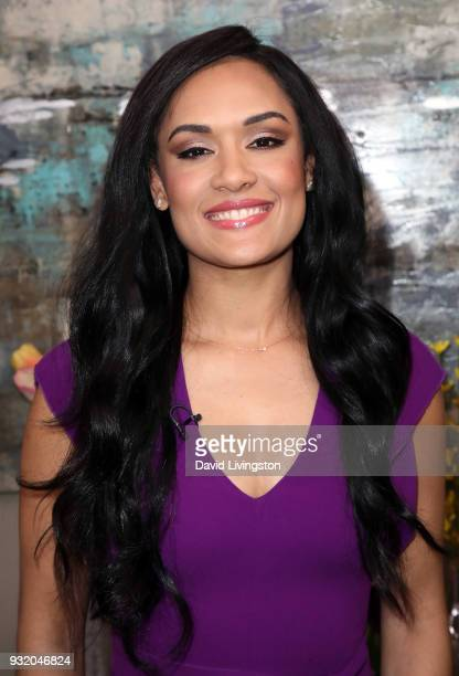 Actress/author Grace Byers visits Hallmark's Home Family at Universal Studios Hollywood on March 14 2018 in Universal City California