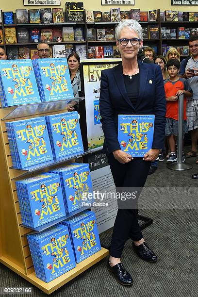 Actress/author Jamie Lee Curtis signs copies of her new book 'This Is Me A Story of Who We Are and Where We Came From' at Barnes Noble 86th Lexington...