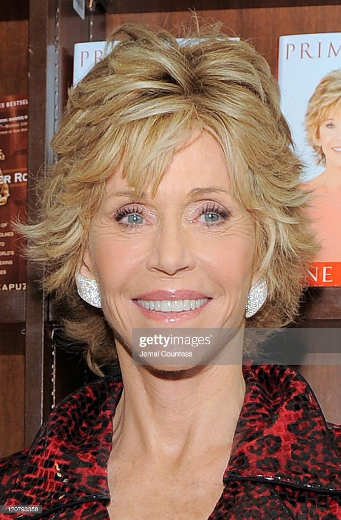 Actress/author Jane Fonda poses for a photo as she promotes'Prime Time: Making The Most Of All Of Your Life' at Barnes & Noble Union Square on August 10, 2011 in New York City.