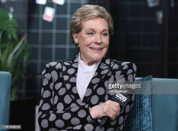 Actress/author Julie Andrews attends the Build Series to discuss Home Work A Memoir of My Hollywood Years at Build Studio on October 16 2019 in New...