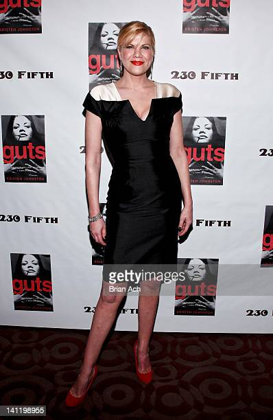 Actress/author Kristen Johnston attends the Guts memroir release party at 230 Fifth Avenue on March 12 2012 in New York City