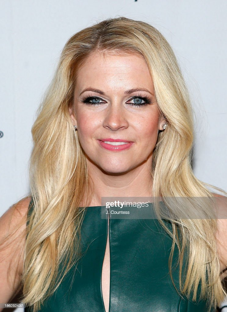 Actress/author Melissa Joan Hart poses for a photo at the 'Melissa Explains It All: Tales from My Abnormally Normal Life' book launch party at Monkey Bar on October 29, 2013 in New York City.