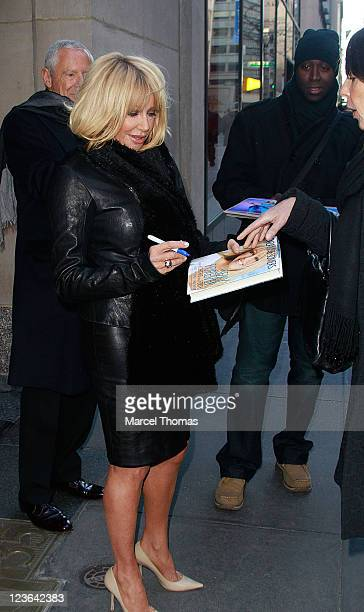 Actress/Author Suzanne Somers is seen on the Streets of Manhattan on January 10 2011 in New York City