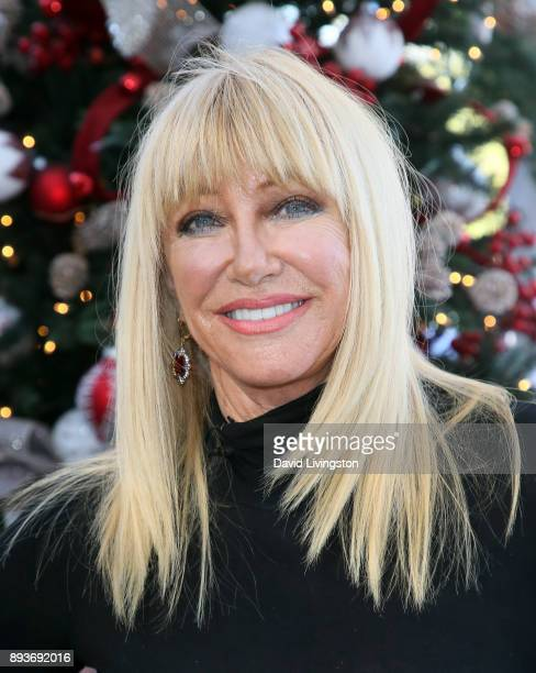 Actress/author Suzanne Somers visits Hallmark's 'Home Family' at Universal Studios Hollywood on December 15 2017 in Universal City California