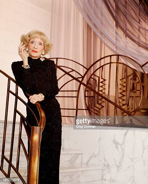 ActressBette Davis is photographed for City Magazine on January 1 1988 in Los Angeles California