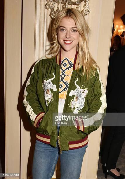 Actress/blogger Victoria Monfort attends 'Les Grandes Tables Du Monde' Cocktail at Four Seasons Georges V Hotel on April 7 2015 in Paris France