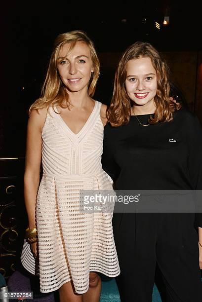 Actress/book co author Amelie Etasse and actress Lucie Fagedet attend L'Art du Bien Etre Et Ailleurs Dans Ton Coeur Amelie Etasse and Clement Vallos...