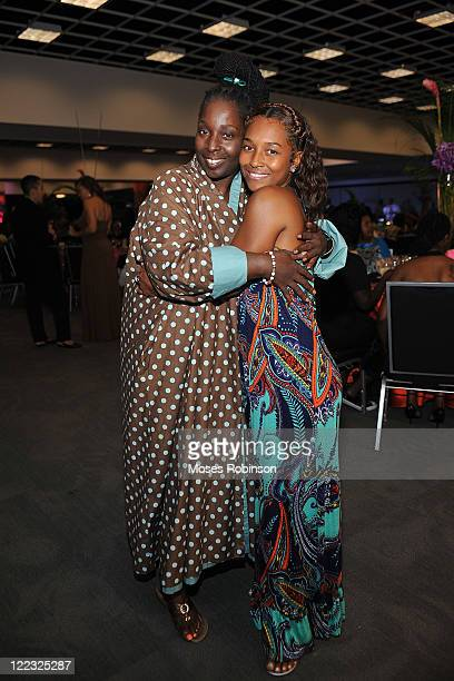 Actress/Comdian Phyllis Yvonne Stickney and recording artist Rozonda Chilli Thomas attend the NBAF midsummer gala Brazilian Cool at Americas Mart on...