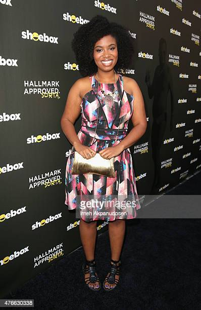 Actresscomedian Akilah Hughes attends Shoebox's 29th Birthday Celebration hosted by Rob Riggle at The Improv on June 10 2015 in Hollywood California