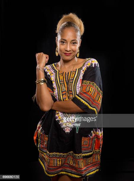 Actress/comedian Amanda Seales poses for a portrait on Day 2 of the 2017 American Black Film Festival at the New World Center on June 16 2017 in...