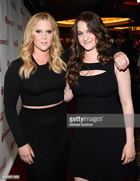 Actress/comedian Amy Schumer recipient of the Breakthrough Performer of the Year Award and her sister Kimberly Schumer attend The CinemaCon Big...