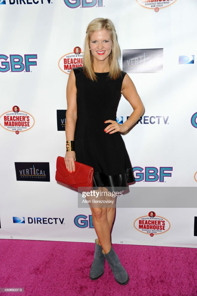 Actress/comedian Arden Myrin arrives at the Los Angeles premiere of 'G.B.F.' at Chinese 6 Theater in Hollywood on November 19, 2013 in Hollywood, California.