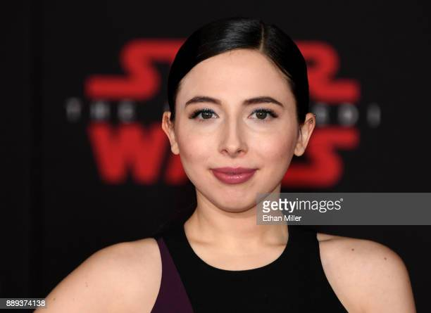 Actress/comedian Esther Povitsky attends the premiere of Disney Pictures and Lucasfilm's Star Wars The Last Jedi at The Shrine Auditorium on December...
