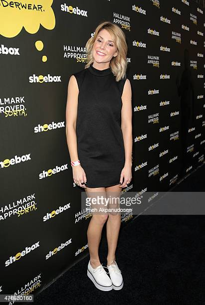 Actresscomedian Grace Helbig attends Shoebox's 29th Birthday Celebration hosted by Rob Riggle at The Improv on June 10 2015 in Hollywood California
