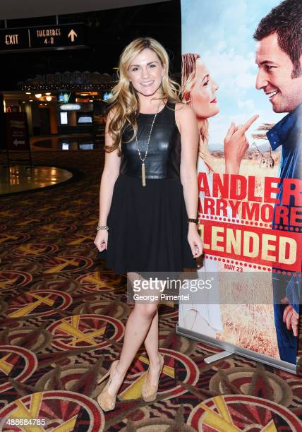 Actress/comedian Jessica Lowe introduces advanced Toronto screening of Blended at AMC Yonge Dundas 24 theatre on May 7 2014 in Toronto Canada