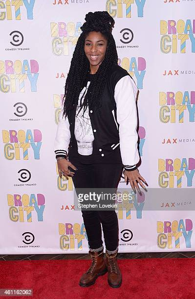 Actress/comedian Jessica Williams attends The Broad City Season 2 Premiere Party at 26 Bridge Street on January 7 2015 in New York City