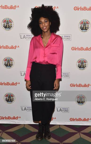 Actress/comedian Jessica Williams attends the LA Promise Fund's 'Girls Build Leadership Summit' at The Los Angeles Convention Center on December 15...
