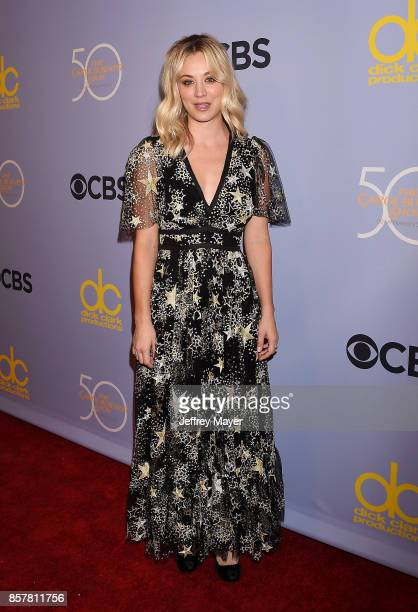 Actresscomedian Kaley Cuoco attends the CBS' 'The Carol Burnett Show 50th Anniversary Special' at CBS Televison City on October 4 2017 in Los Angeles...