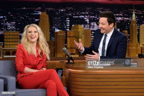 Actress/comedian Kate McKinnon visits the The Tonight Show Starring Jimmy Fallon on December 5 2017 in New York City