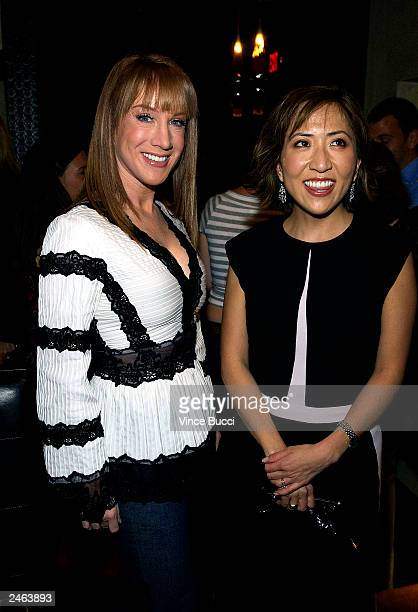 Actress/comedian Kathy Griffin and US Weekly magazine's new editorinchief Janice Min attend a party for Min on September 4 2003 at Dolce in Los...