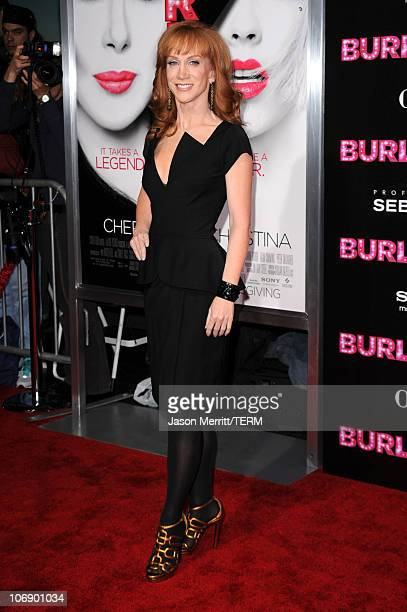 Actress/comedian Kathy Griffin arrives at the premiere of Screen Gems' Burlesque at Grauman's Chinese Theater on November 15 2010 in Los Angeles...