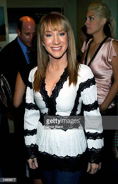 Actress/comedian Kathy Griffin attends a party for US Weekly magazine's new editorinchief Janice Min on September 4 2003 at Dolce in Los Angeles...