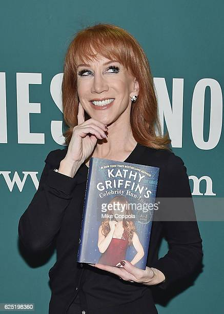 Actress/Comedian Kathy Griffin poses for a picture after signing copies of 'Kathy Griffin's Celebrity RunIn's' at Barnes Noble Union Square on...