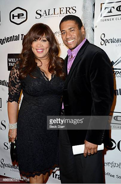 Actress/comedian Kym Whitley and guest attend Borgnine Movie Star Gala to honor actor Joe Mantegna with the second annual Ernie Award at Sportman's...