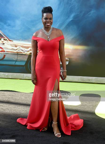 "Actress/comedian Leslie Jones arrives at the premiere of Sony Pictures' ""Ghostbusters"" at TCL Chinese Theatre on July 9, 2016 in Hollywood,..."