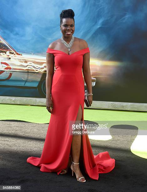 Actress/comedian Leslie Jones arrives at the premiere of Sony Pictures' Ghostbusters at TCL Chinese Theatre on July 9 2016 in Hollywood California