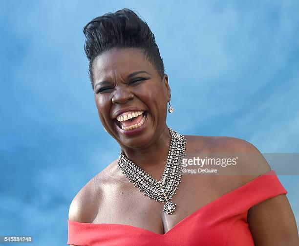 """Actress/comedian Leslie Jones arrives at the premiere of Sony Pictures' """"Ghostbusters"""" at TCL Chinese Theatre on July 9, 2016 in Hollywood,..."""