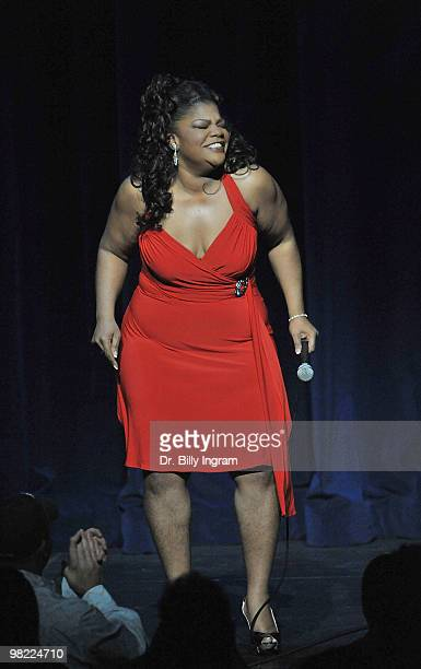 Actress/comedian Mo'Nique performs at her Spread The Love Tour at the Nokia Theatre LA Live on April 2 2010 in Los Angeles California