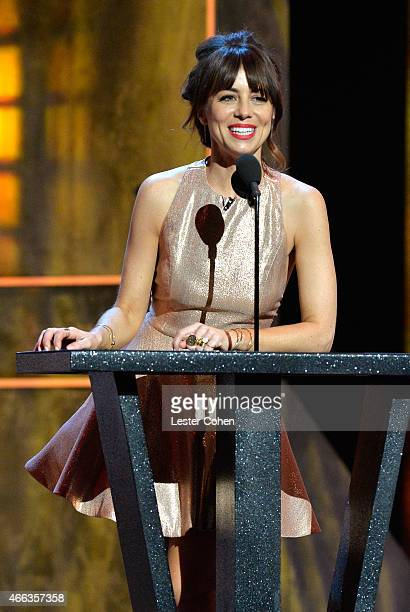 Actress/comedian Natasha Leggero speaks onstage at The Comedy Central Roast of Justin Bieber at Sony Pictures Studios on March 14, 2015 in Los...