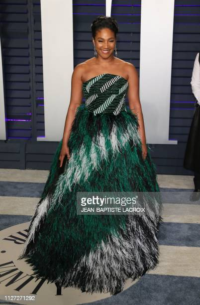 Actress/comedian Tiffany Haddish attends the 2019 Vanity Fair Oscar Party following the 91st Academy Awards at The Wallis Annenberg Center for the...
