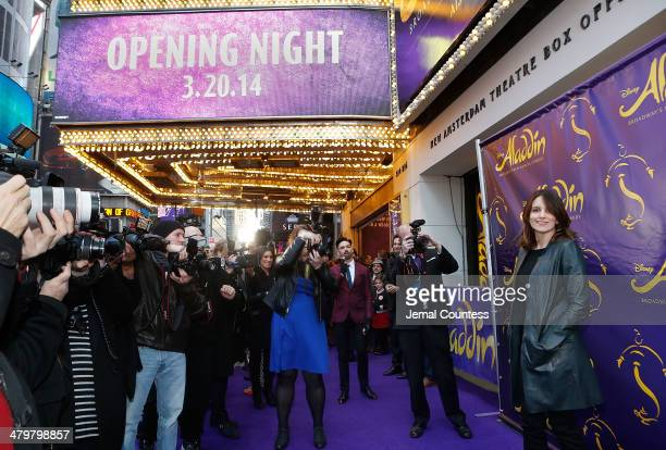 Actress/comedian Tina Fey attends the 'Aladdin' On Broadway Opening Night at New Amsterdam Theatre on March 20 2014 in New York City