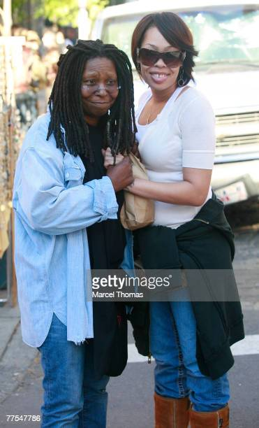 Actress/comedian Whoopi Goldberg and daughter actress Alexandrea Martin shopping in SOHO on October 21 2007 in New York City