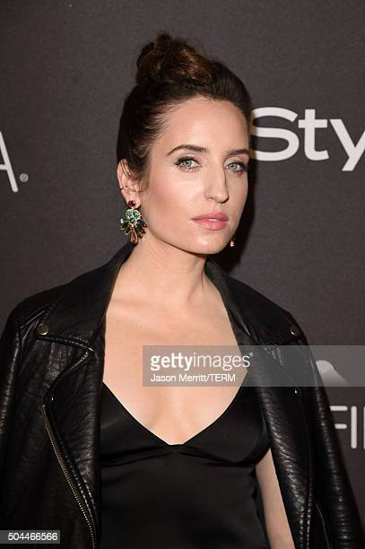 Actress/comedian Zoe ListerJones attends The 2016 InStyle And Warner Bros 73rd Annual Golden Globe Awards PostParty at The Beverly Hilton Hotel on...