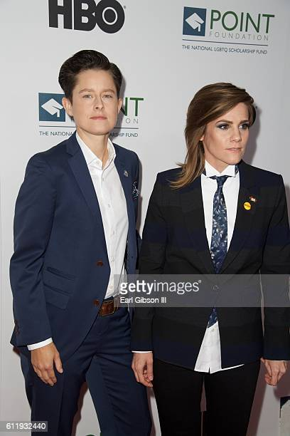 Actress/comedians Rhea Butcher and Cameron Esposito attend the 2016 Point Honors Los Angeles Gala at The Beverly Hilton Hotel on October 1 2016 in...